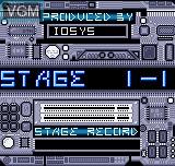Image du menu du jeu Delta Warp sur SNK NeoGeo Pocket