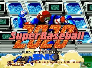 Image de l'ecran titre du jeu 2020 Super Baseball sur SNK NeoGeo