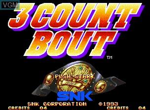 Image de l'ecran titre du jeu 3 Count Bout / Fire Suplex sur SNK NeoGeo