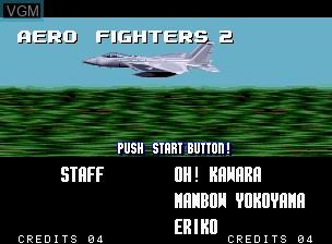 Image de l'ecran titre du jeu Aero Fighters 2 / Sonic Wings 2 sur SNK NeoGeo