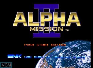 Image de l'ecran titre du jeu Alpha Mission II / ASO II - Last Guardian sur SNK NeoGeo