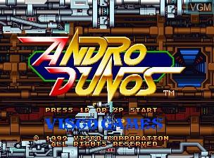 Image de l'ecran titre du jeu Andro Dunos sur SNK NeoGeo