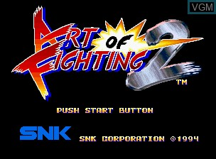 Image de l'ecran titre du jeu Art of Fighting 2 / Ryuuko no Ken 2 sur SNK NeoGeo