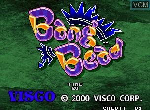 Image de l'ecran titre du jeu Bang Bead sur SNK NeoGeo