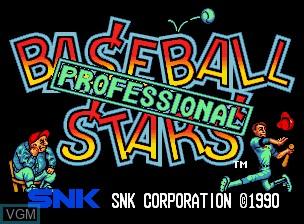 Image de l'ecran titre du jeu Baseball Stars Professional sur SNK NeoGeo