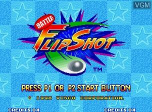 Image de l'ecran titre du jeu Battle Flip Shot sur SNK NeoGeo