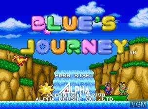Image de l'ecran titre du jeu Blue's Journey / Raguy sur SNK NeoGeo