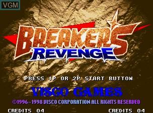 Image de l'ecran titre du jeu Breakers Revenge sur SNK NeoGeo