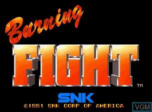 Image de l'ecran titre du jeu Burning Fight sur SNK NeoGeo