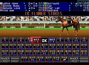 Image du menu du jeu Jockey Grand Prix sur SNK NeoGeo