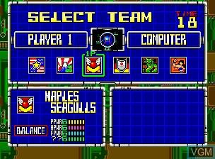 Image du menu du jeu 2020 Super Baseball sur SNK NeoGeo