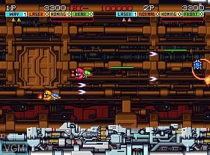 Image du menu du jeu Andro Dunos sur SNK NeoGeo