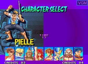 Image du menu du jeu Breakers sur SNK NeoGeo