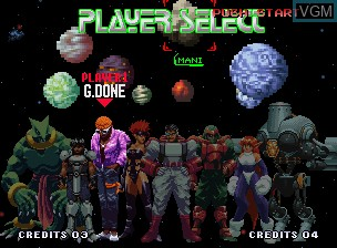 Image du menu du jeu Galaxy Fight - Universal Warriors sur SNK NeoGeo