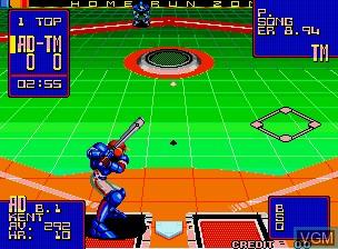 Image in-game du jeu 2020 Super Baseball sur SNK NeoGeo