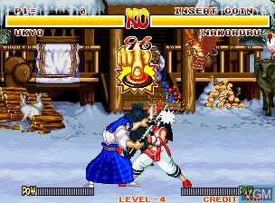 Image in-game du jeu Samurai Shodown / Samurai Spirits sur SNK NeoGeo