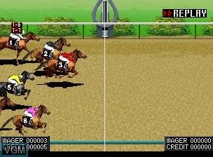 Image in-game du jeu Jockey Grand Prix sur SNK NeoGeo