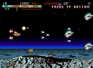 Image in-game du jeu Andro Dunos sur SNK NeoGeo