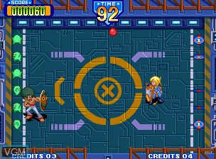Image in-game du jeu Battle Flip Shot sur SNK NeoGeo