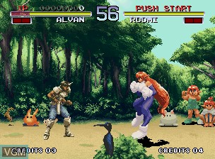 Image in-game du jeu Galaxy Fight - Universal Warriors sur SNK NeoGeo