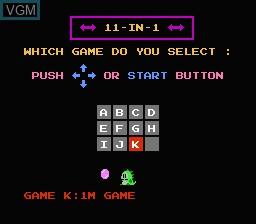 Image de l'ecran titre du jeu 11-in-1 Ball Games sur Nintendo NES