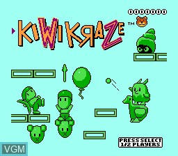 Image de l'ecran titre du jeu Kiwi Kraze - A Bird-Brained Adventure! sur Nintendo NES
