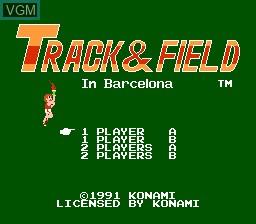 Image de l'ecran titre du jeu Track & Field in Barcelona sur Nintendo NES