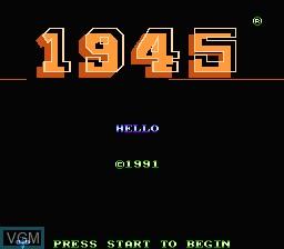 Image de l'ecran titre du jeu 1945 sur Nintendo NES