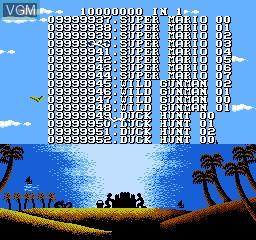 Image de l'ecran titre du jeu 10000000-in-1 sur Nintendo NES