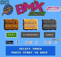 Image de l'ecran titre du jeu BMX Simulator sur Nintendo NES