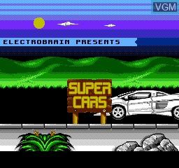 Image de l'ecran titre du jeu Super Cars sur Nintendo NES