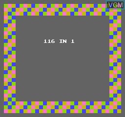 Image de l'ecran titre du jeu 116-in-1 sur Nintendo NES