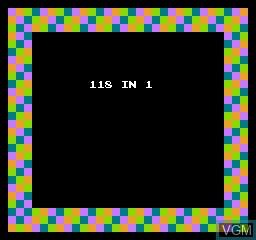 Image de l'ecran titre du jeu 118-in-1 sur Nintendo NES