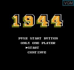 Image de l'ecran titre du jeu 1944 sur Nintendo NES