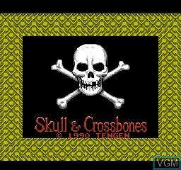 Image de l'ecran titre du jeu Skull & Crossbones sur Nintendo NES