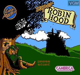 Image de l'ecran titre du jeu Super Robin Hood sur Nintendo NES