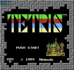 Image de l'ecran titre du jeu Tetris sur Nintendo NES