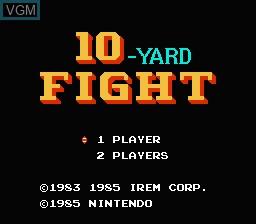 Image de l'ecran titre du jeu 10-Yard Fight sur Nintendo NES