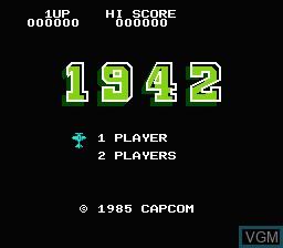 Image de l'ecran titre du jeu 1942 sur Nintendo NES
