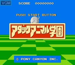 Image de l'ecran titre du jeu Attack Animal Gakuen sur Nintendo NES