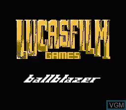 Image de l'ecran titre du jeu Ballblazer sur Nintendo NES