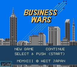 Image de l'ecran titre du jeu Business Wars sur Nintendo NES