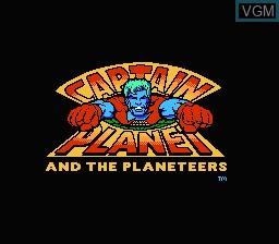 Image de l'ecran titre du jeu Captain Planet and The Planeteers sur Nintendo NES