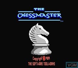 Image de l'ecran titre du jeu Chessmaster, The sur Nintendo NES