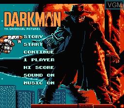 Image de l'ecran titre du jeu Darkman sur Nintendo NES