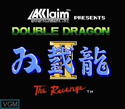 Image de l'ecran titre du jeu Double Dragon II - The Revenge sur Nintendo NES