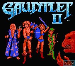 Image de l'ecran titre du jeu Gauntlet II sur Nintendo NES