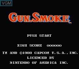Image de l'ecran titre du jeu Gun.Smoke sur Nintendo NES