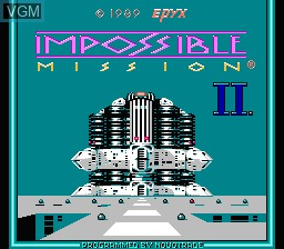 Image de l'ecran titre du jeu Impossible Mission II sur Nintendo NES
