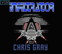 Image de l'ecran titre du jeu Infiltrator sur Nintendo NES